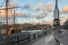 Princes Wharf - the Matthew and the Cranes